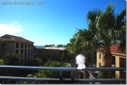 Auf der Hotelzimmer-Terrasse