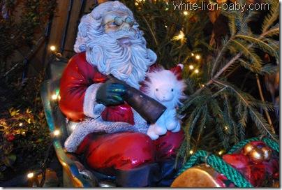 Auf dem Weihnachts-Schlitten
