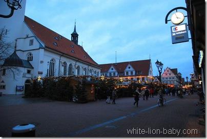 Ankunft am Weihnachtsmarkt