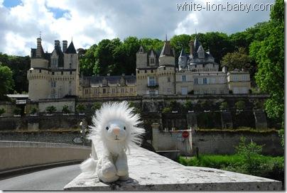 Frontalblick auf Schloss Ussé