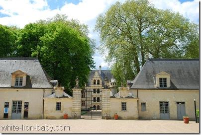 Eingang von Schloss Azay-le-Rideau