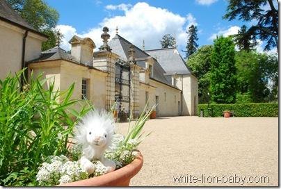 Vorplatz von Schloss Azay-le-Rideau