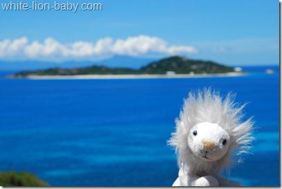 Blick zur Insel Cousine