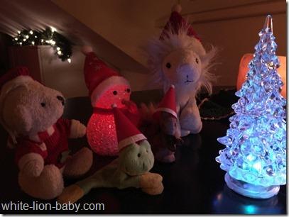 Die Weihnachtsmützen wurden heraus geholt