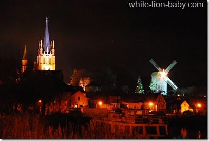Weihnachtliche Stadtsilhouette