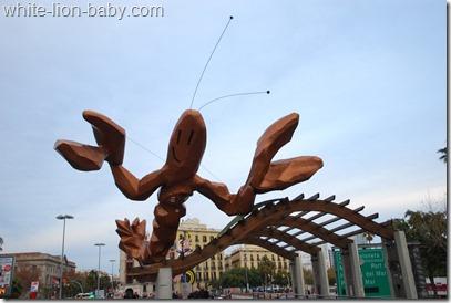 Die Garnelen-Statue